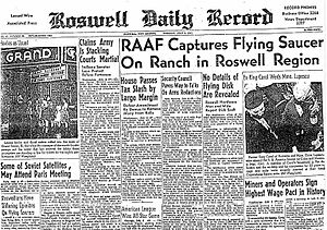Roswell Daily Record July 8, 1947