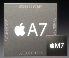a7 and m7 iphone cpu chip