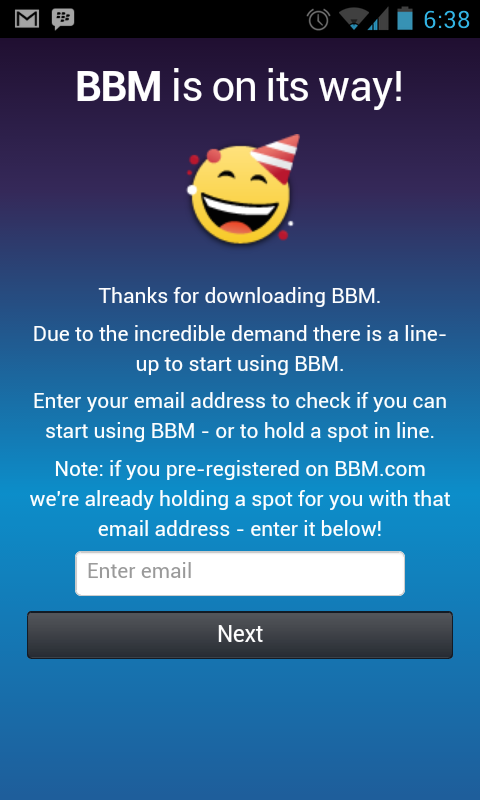 bbm on its way