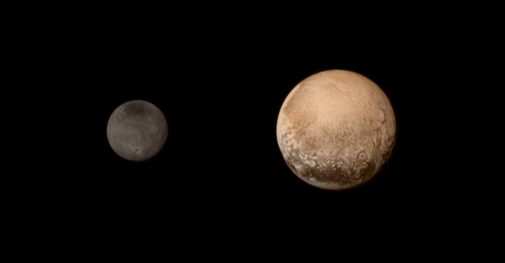 pluto and charon colors