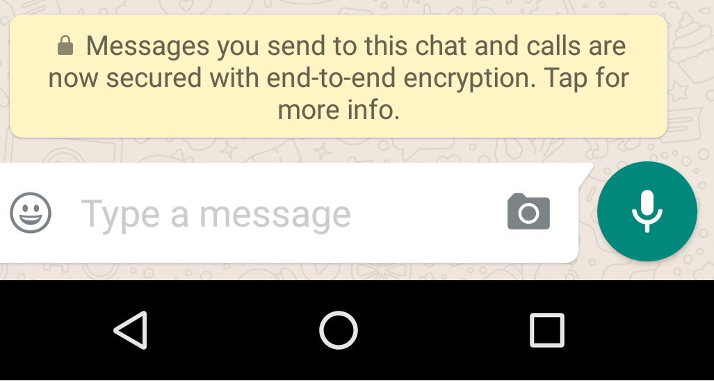 whatapp secure message